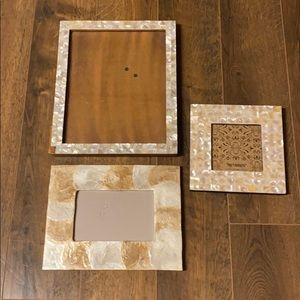 Three mother of pearl frames